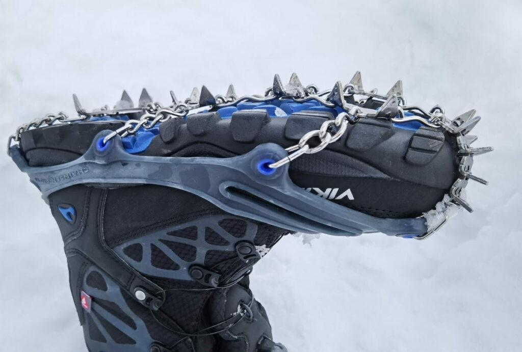 snowline chainsen pro XT im Schuhe Spikes Test