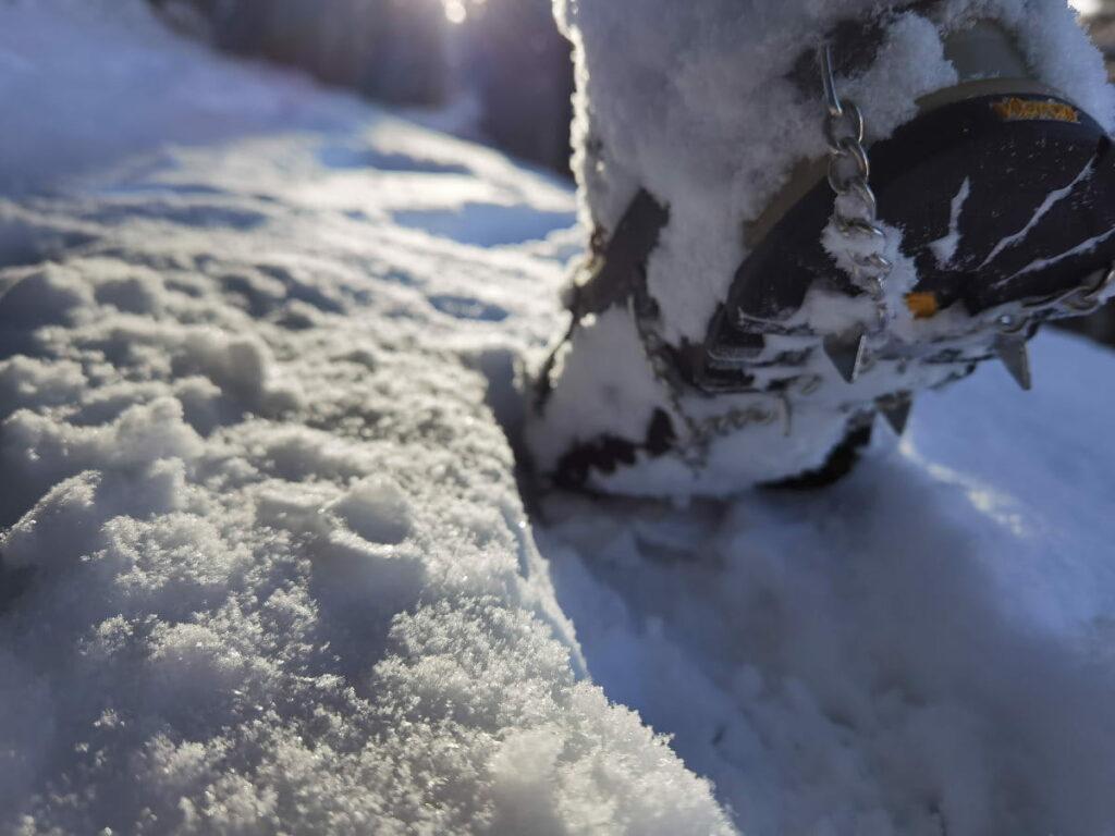 Danke Grödel sicher im Schnee unterwegs
